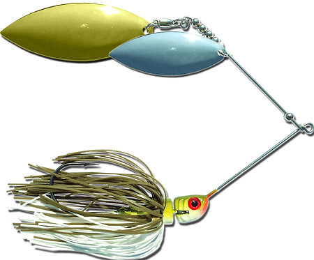 Big Bass Spinnerbait Dbl Willow - Baby Bass Br/Ni