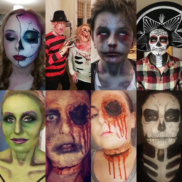 Mixed halloween looks