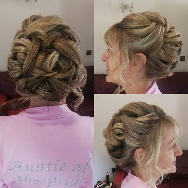 Bridal party hair up