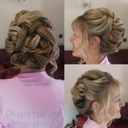 Bridal party hair up