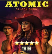 Atomic Saloon show Flyer