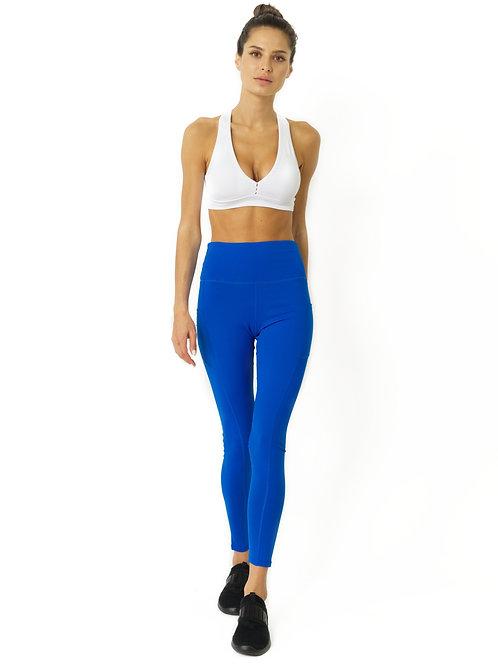 High Waisted Yoga Leggings - Sky Blue