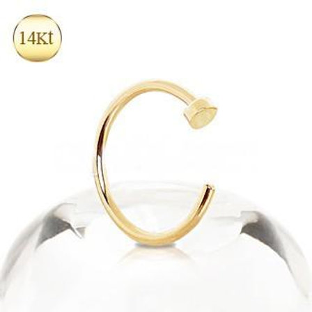 14Kt Yellow Gold Nose Hoop Ring
