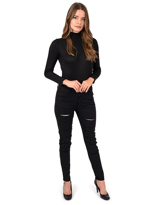Clifton Ripped High Waist Skinny Jeans