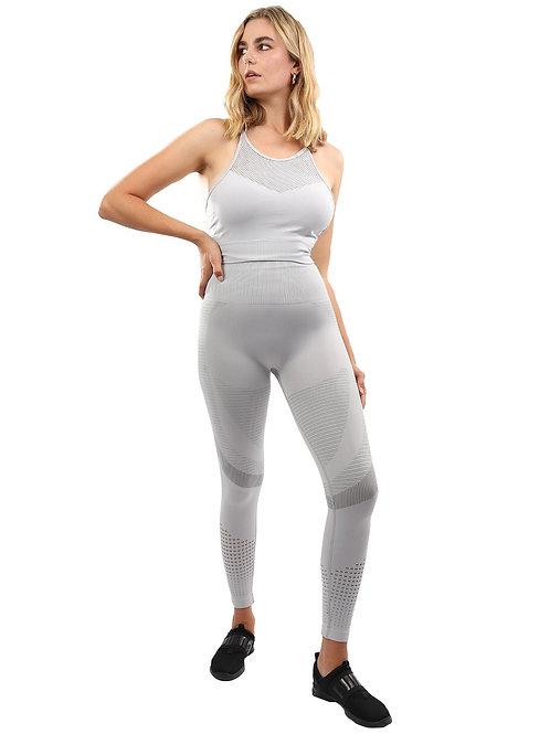Helia Seamless Leggings & Sports Bra Set - Grey