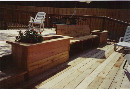 Deck Box and Bench
