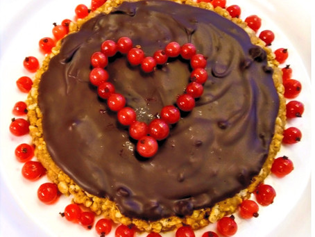 Valentine Chocolate-Nut Tart