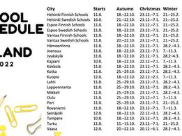 School Schedule in Finland