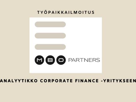 ANALYYTIKKO CORPORATE FINANCE -YRITYKSEEN