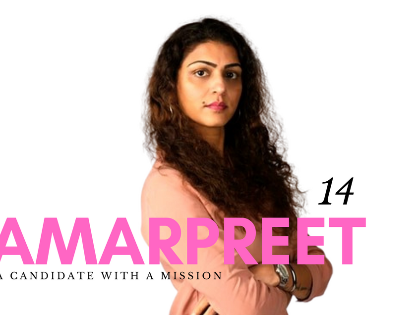 Amarpreet, a candidate with a mission