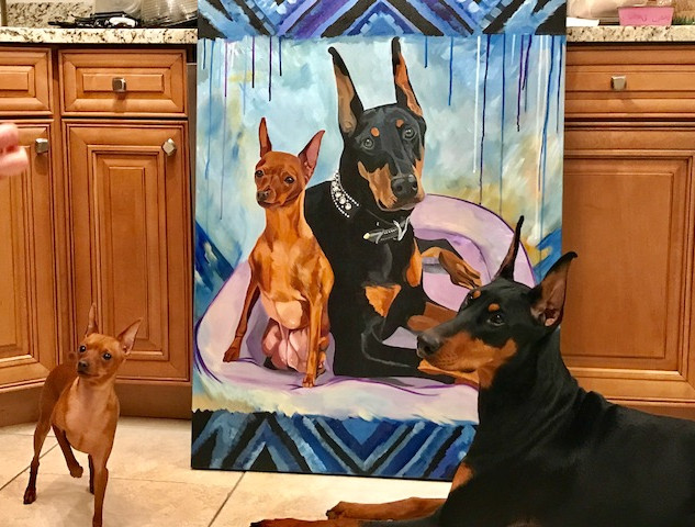 Sitting Pretty with Their Painting.jpg