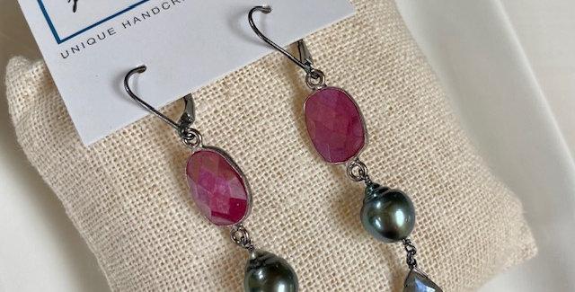 Moonstone and Tahitian Pearl