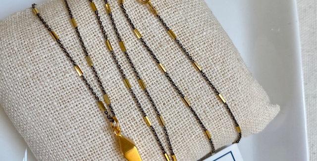 Gold vermeil diamond spike