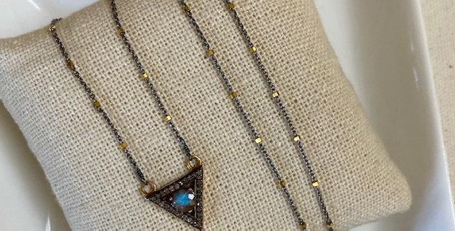 Diamond Pave Triangle