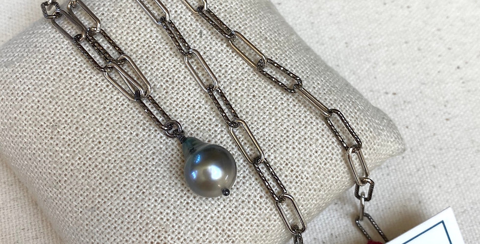 Silver Link Pearls