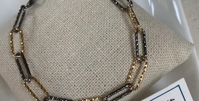 Italian Black Gold Bracelet
