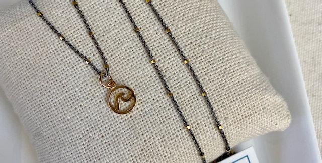 Big Wave Mixed Metals Necklace