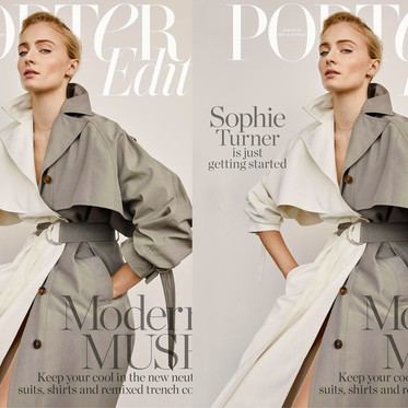 SOPHIE TURNER IN PORTEREDIT BY YELENA YEMCHUK