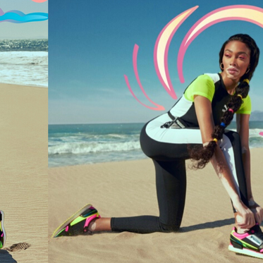 WINNIE HARLOW HITS THE BEACH IN PUMA MILE RIDER CAMPAIGN