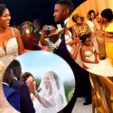 WEDDING TINZ FLIX:  Congrats To John Dumelo & Gift Mawuenya On Their Nuptials