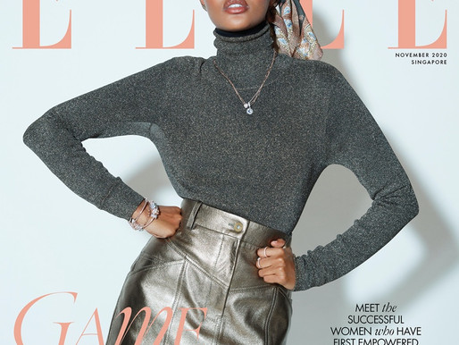 HALIMA ADEN FOR ELLE SINGAPORE BY BEN LAMBERTY