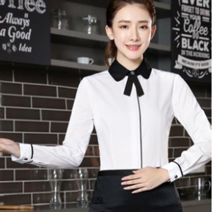女性白シャツ AM01003-21