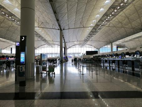 香港空港に人がいません!!