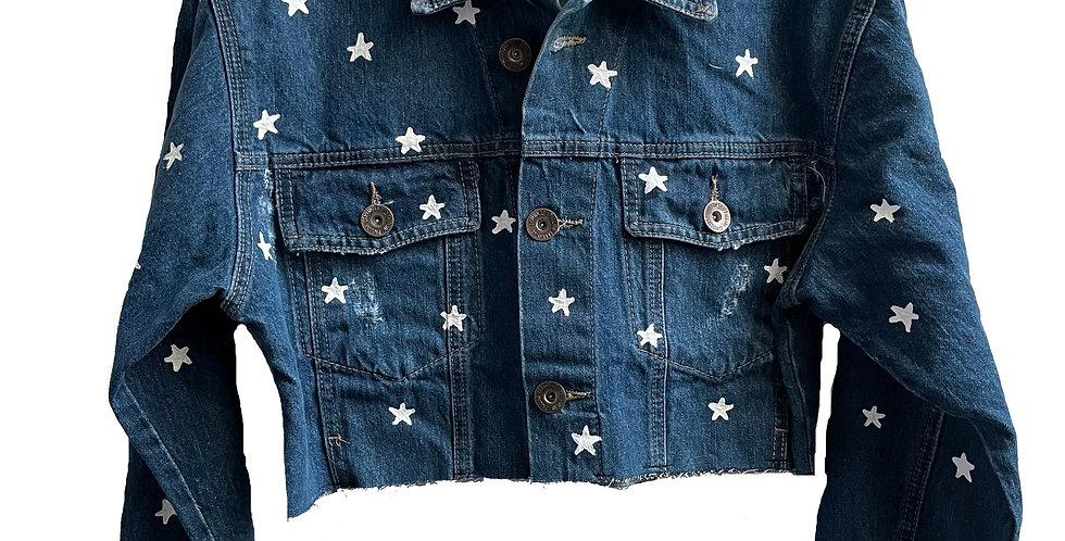 Chamarra Cropped con Estrellas