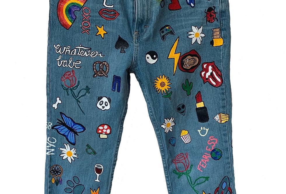 Emoji Bomb Jeans