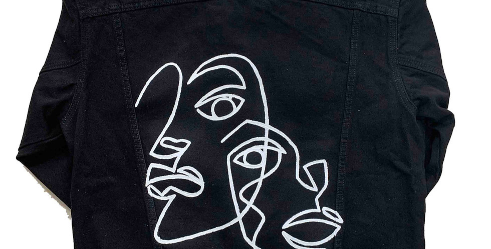 One line faces