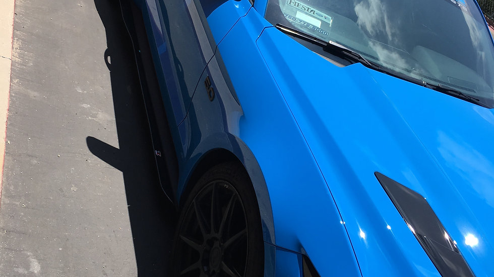 ford mustang side blades