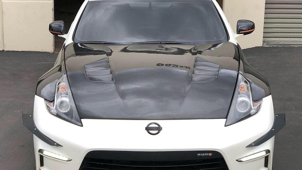 Nissan 370Z Carbon signal lip front splitter