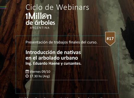 XVII Webinar / Introducción de nativas en arbolado urbano.