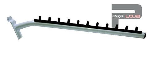 Suporte frontal inclinado simples para painel canaletado
