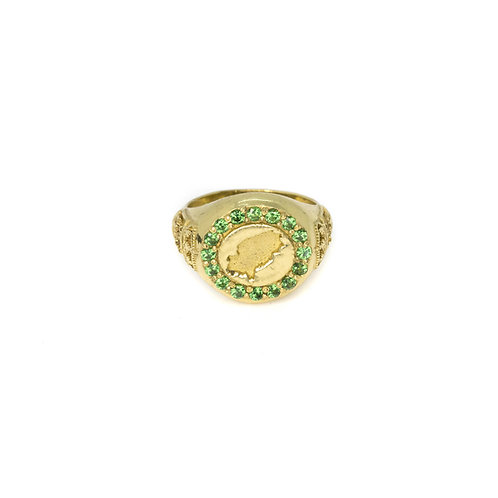 Green Ibiza Magic Gold Ring