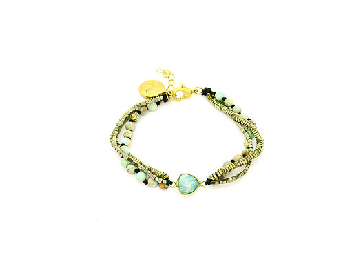 Boheme Green Marble Bracelet