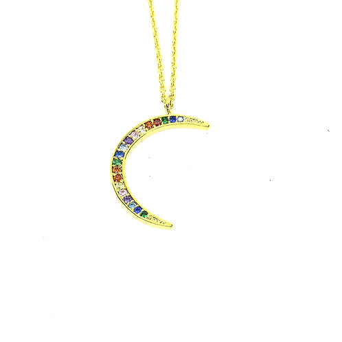 Gold Moon Dance Necklace