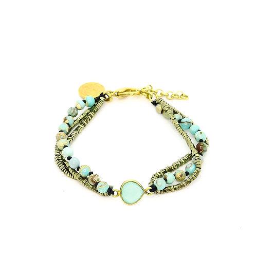 Boheme Jasper Turquoise Bracelet