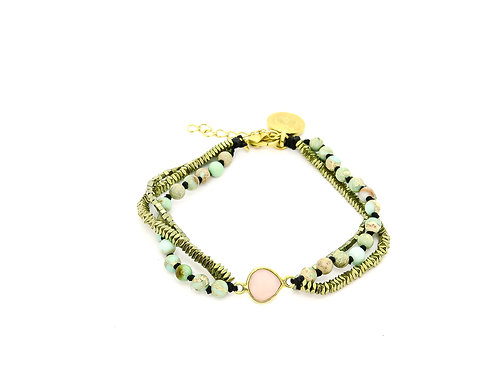 Boheme Jasper Pink Bracelet