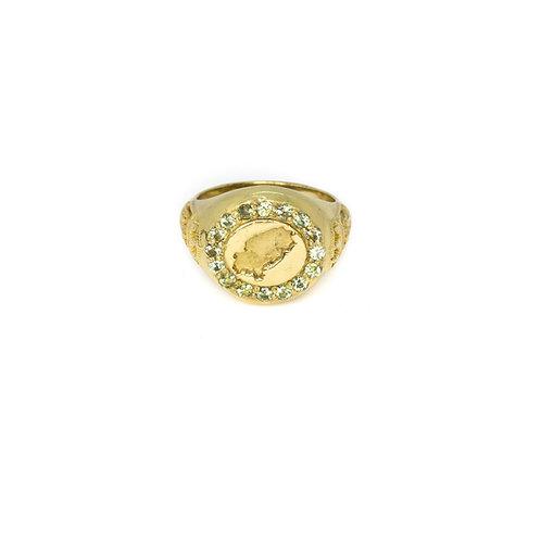 Light Green Ibiza Magic Gold Ring