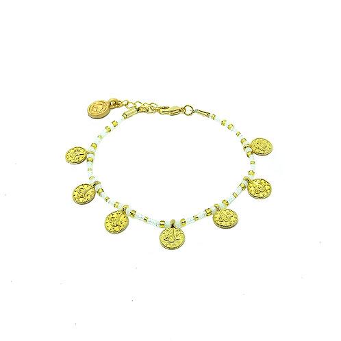 Full Lucky Coin Bracelet