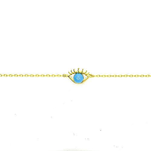 Gold Fortune Eye Bracelet