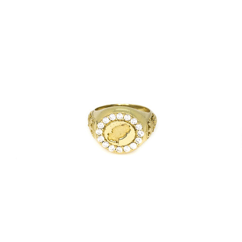 White Ibiza Magic Gold Ring