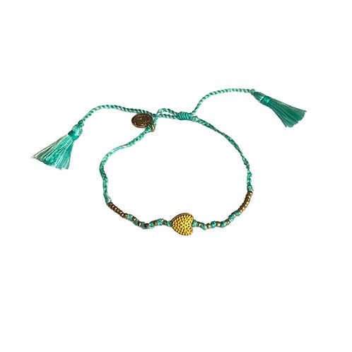 Pompom Rainbow Bracelet