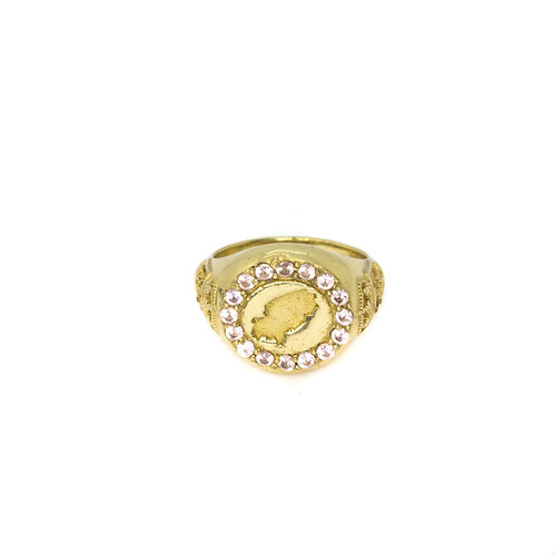 Pink Ibiza Magic Gold Ring