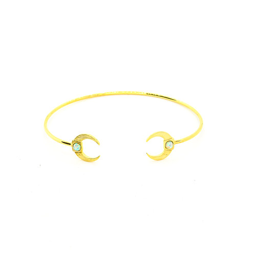 Gold Moon Bangle