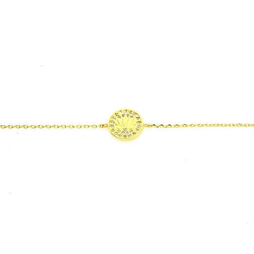 Gold Lotus Bracelet
