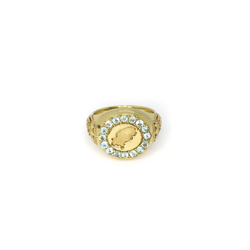 Turquoise Ibiza Magic Gold Ring