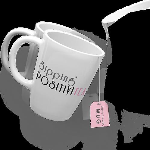 Sipping PositiviTEA Classic Mug