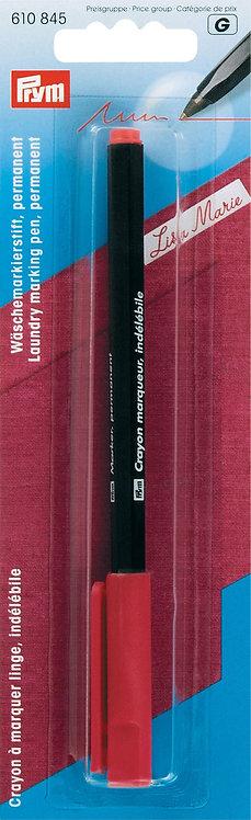 Crayon à marquer linge indélébile rouge
